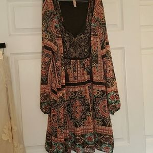 Cute boho midi dress s l-xxl.
